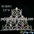 2014 New arrival butterfly AB stone Halloween pageant crown
