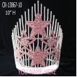 Big Pink Star Rhinestone Pageant Crowns