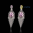 2015 Noble Temperament Crystal Earrings Fantasy Land Woman Long Crystal Earrings