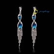 Water droplets crystal long earrings Wedding dinner crystal earrings