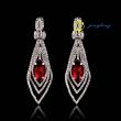 Drop Earrings Charm Earring Different Color Rhinestone Cubic Zirconia Earrings Rhinestone And Copper