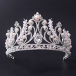 Silver Plated Pearl Wedding Tiara Princess Crown For Girls
