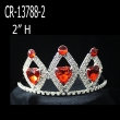 Red Heart Rhinestone Pageant Crowns