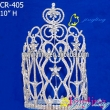 rhinestone crown large pageant tiara