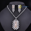 Tissany Rhinestone Flower Gold Plating Party Necklace jewelry Set