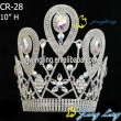 latest big stone tiara rhinestone pageant crown
