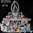 Wholesale Cheap Red Stone Pageant Crowns