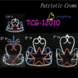 patriotic tiara rhinestone pageant crowns