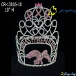 fly bird bow shape crystal custom crown
