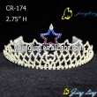 Patriotic Rhinestone Star Pageant Crown