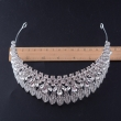 2017 New Design Fashion Leaves Semi-circular Crystal Crown