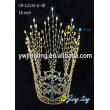 Bridal Hair Ornaments Sweetv Royal Wedding Crown Gold Plated Round Tiara For Girls