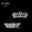 Wholesale Pink Flower Full Round Crown
