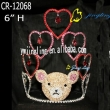 teddy bear and heart pageant crowns for sale