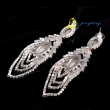 Gold Crystal Women Earrings Accessories Sparkly Crystal Fashion Earring