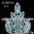 Aqua wholesale rhinstone pageant crown for sale
