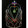 10 Inch Colorful Drop Water Pageant Crown For Queen Tiara