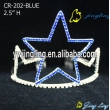 big blue one star patriotic crown