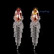 Dangle Earring Jewelry Rhinestone Earrings Silver And Golden Unique Earrings Rhinestone And Copper M