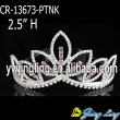 Wholesale pink  rhinestone cheap wedding pageant crowns