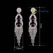 Big Crystal Stud Earrings Fashion Accessories Women Europe Jewelry