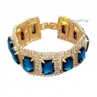 Gold/Silver Bracelet Luxury Ausrian Crystal Famous Brand Bracelet For Women