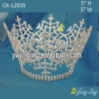 bigger full round king snowflake tiara for Christmas pageant holiday crown