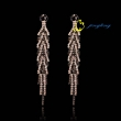 New fashion flash diamond drop shape long tassel earrings