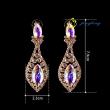 Women's New Enamel Austrian Crystal Flower Bijoux Stud Earrings For Wedding