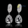 Charm Earring Rhinestone Earrings Silver And Golden Jewelry Earring Multi Colors Rhinestone