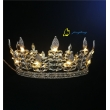 Leaves Led Night Light Up Crown Round Hair Tiara For Party